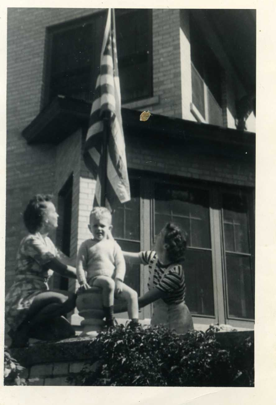 Flag Raising on VJ Day